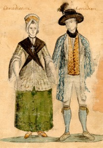 Canadian couple, second half of the eighteenth century