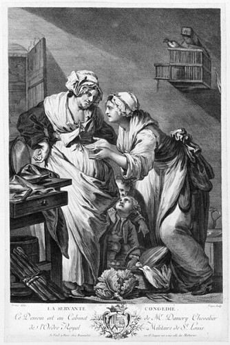 The Maidservant Dismissed, 18th century, according to Jean-Baptiste Greuze