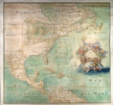 Map of Northern America, attributed to Claude Bernou, 1681