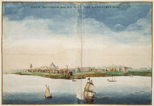 View of New Amsterdam in 1664