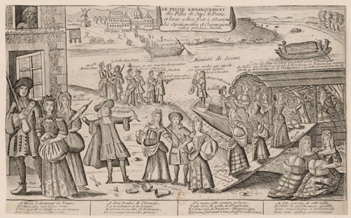 Women of ill repute being shipped from Paris to Louisiana, 1726