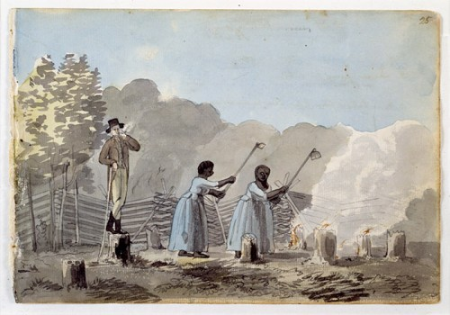 Labouring under the eye of the overseer, end of the eighteenth century