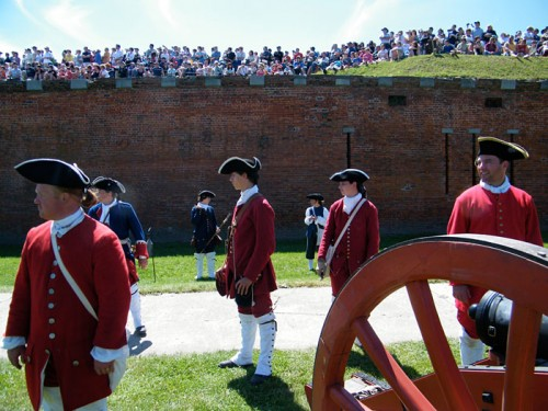 Reenactment at Fort Niagara
