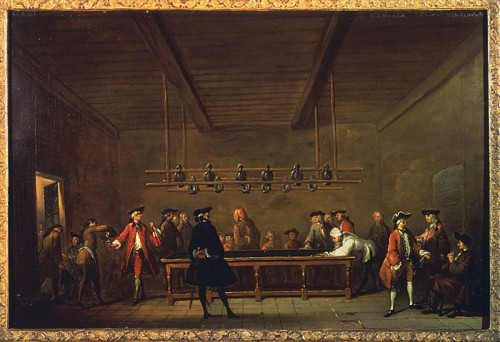 """The Game of Billiards"", c. 1725, by Jean-Baptiste Siméon Chardin"