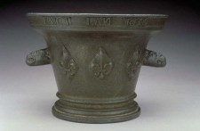 Bronze mortar dated 1636, found near Parry Sound, Ontario