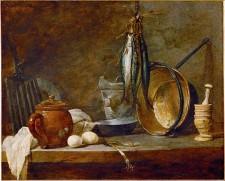 Fasting menu and cooking utensils