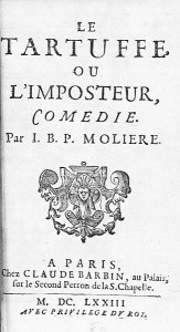 The Tartuffe or the impostor, title page