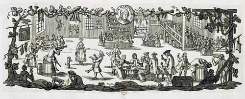 Jean Ramponneau's Cabaret, 1761, by Jean Michel Papillon, engraver