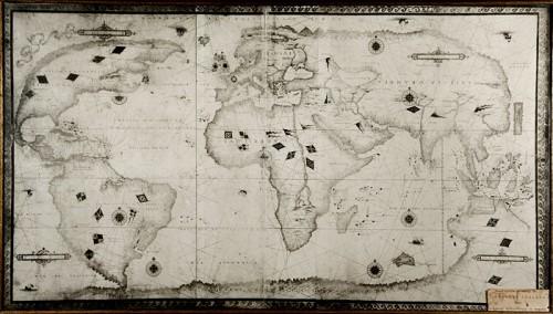 Nicolas Desliens planisphere (photographic reproduction)