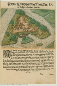 Charlesfort, 1591, published by Theodor de Bry