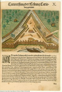Fort Caroline, 1591, published by Theodor de Bry