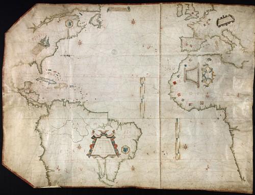 Map of Atlantic Ocean, North America | Cartes et plans, GE SH ARCH 5, Bibliothèque nationale de France