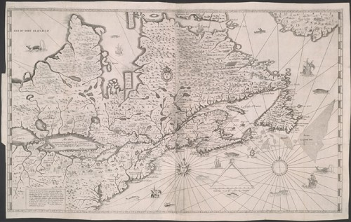 Map of New France | Samuel de Champlain, 1632, Library and Archives Canada, e010694118