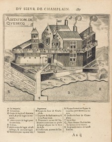 Quebec Habitation | Samuel de Champlain, 1613, Library and Archives Canada, e010774131