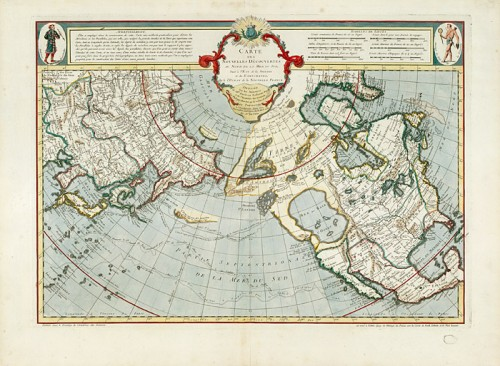 Map of the New Discoveries North of the South Sea from Eastern Siberia and the Kamtchatka and West of the New France