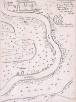 Map from New Orleans 10 leagues long along the River, with the inhabitant's landgrant under Mr. Perier