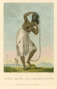 Slave, with a Weight chained to her Ancle, 1796, by John Gabriel Stedman