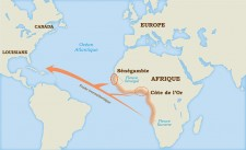 The geographic origin of African slaves