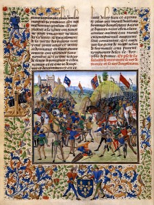 Battle of Crecy, ca. 1475, by illuminator Loyset Liédet
