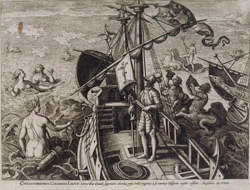 Christopher Colombus, engraved by Adriaen Collaert (ca.1560-1618)