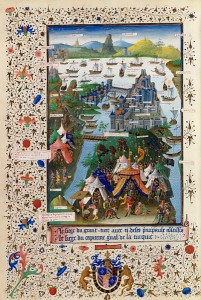 Siege of Constantinople, 3rd quarter of 15th century, by illuminator Jean Le Tavernier