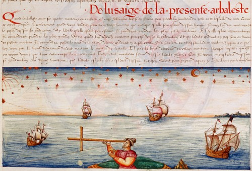 The Use of Cross Staff, 1583, by Jacques de Vaulx