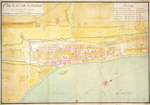 Map of the City of Montreal in 1734