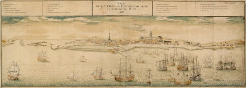 View of the Town of Louisbourg Taken from the Port, 1731, by Verrier Son