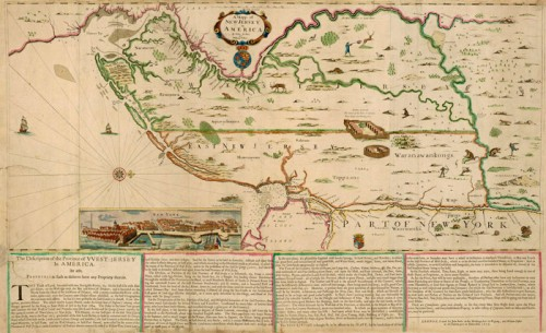 A Map of New Jersey in America, 1678, from the Blathwayt Atlas