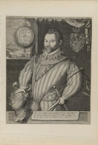 Franciscus Draeck Nobillissimus… (Portrait of Sir Francis Drake), ca. 1583, attributed to Jodocus Hondius
