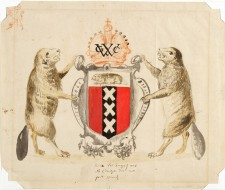 Proposed Coat of Arms for New Amsterdam, New Netherland, ca. 1630, unidentified artist