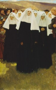 The Arrival of The Ursulines, 1639, painted ca. 1908-1911