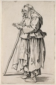 The Beggar Woman coming to receive charity