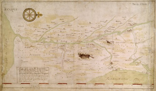 Map of the New Discovery made by Jesuits in the year 1672 followed by Jesuit Jacques Marquette […] in the year 1673