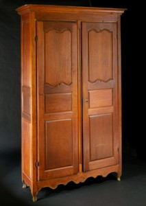 Walnut armoire made by Jean Baptiste Ortes, ca. 1765, Acc No. 1905.13.1