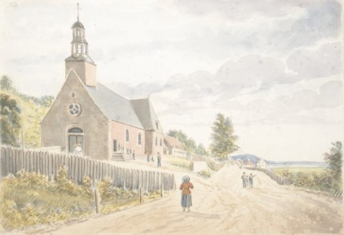 Church of Sainte-Anne, 1829, by James Pattison Cockburn