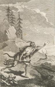 Illustration from Nouveaux voyages aux Indes Occidentales. Part 2, 1768, by Jean Bernard Bossu