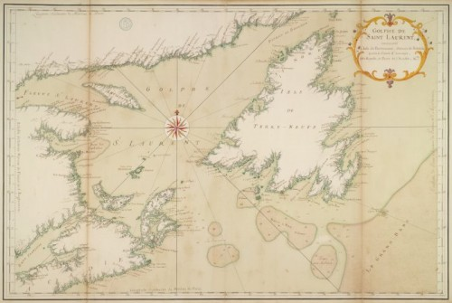 Gulf of Saint. Lawrence, showing the Island of Newfoundland, Straight of Belle Isle, Ile Royale (Cape Breton Island) and a portion of Acadia