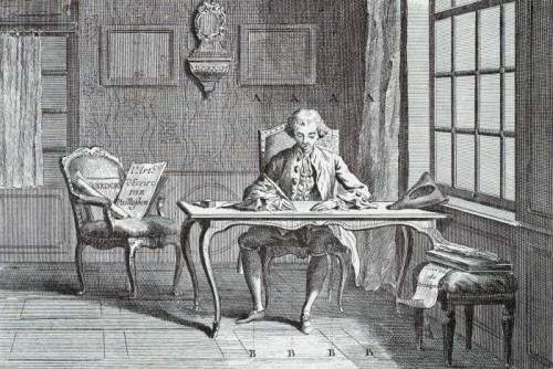 L'art d'écrire, plate II from the Encyclopédie, ou dictionnaire raisonné des sciences, des arts et des métiers, 1762-1772, by Diderot et d'Alembert