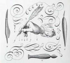 L'art d'écrire, plate III from the Encyclopédie, ou dictionnaire raisonné des sciences, des arts et des métiers, 1762-1772, by Diderot et d'Alembert