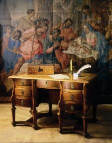 Late 17th Century Mazarin desk, Musée des Augustines de l'Hôtel Dieu de Quebec