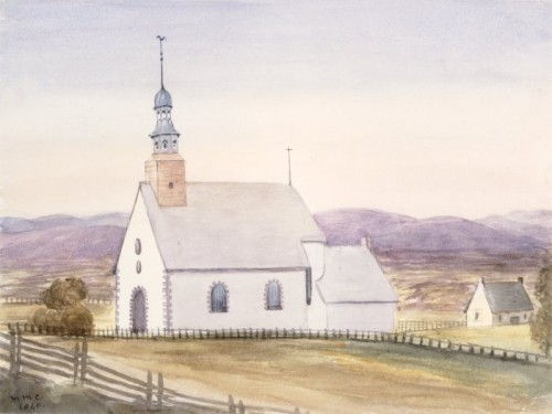 Saint-Foy Church near Quebec, 1840, by Millicent Mary Chaplin