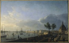 Communications virtual museum of new france - Tableau du port de bordeaux par vernet ...