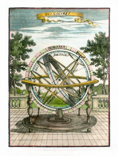 Armillary sphere, 1685, by Alain Manesson Mallet