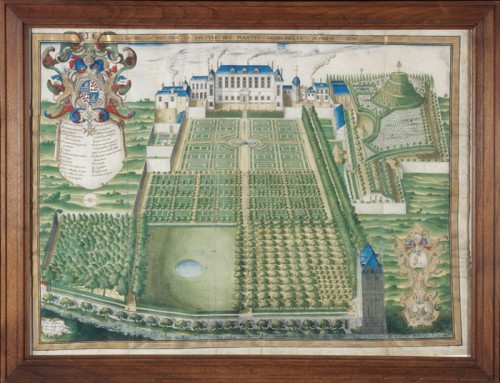 King's Garden for the Cultivation of Medicinal Plants, 1636, by Frederic Scalberge