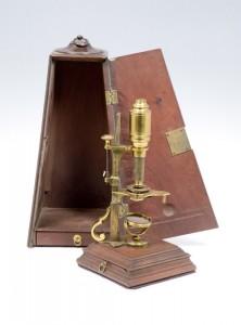 Compound Microscope, ca. 1750, by John Cuff, London