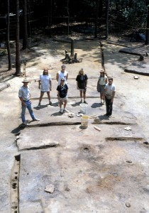 Archaeological remains of a poteaux-sur-sole building, Old Mobile (Alabama)