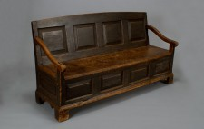 Settle-bed from the second half of the 18th century.