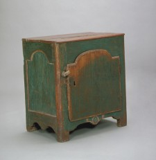 Painted small cupboard from the 17th century