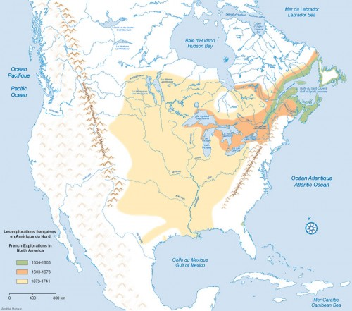 French Explorations in North America